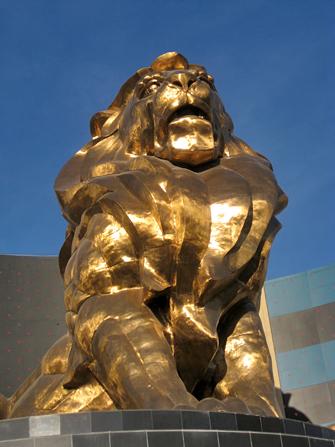 Hotel MGM Grand em Las Vegas - Leão