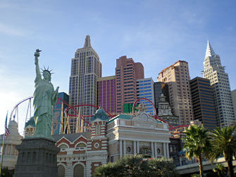 Hotel New York New York em Las Vegas - Exterior
