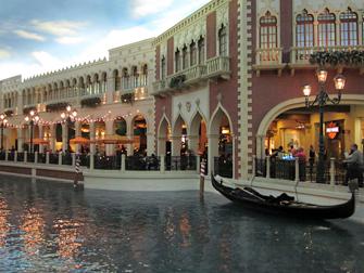 Hotel The Venetian em Las Vegas - Gôndola