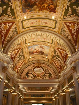 Hotel The Venetian em Las Vegas - Teto Decorado
