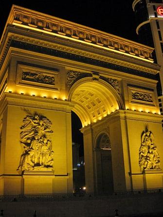 Hotel Paris em Las Vegas - Arco do Triunfo