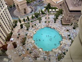 Hotel Paris em Las Vegas - Visão Aérea da Piscina