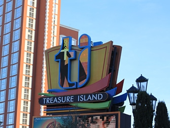Hotel Treasure Island em Las Vegas - Outdoor
